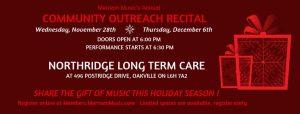 Community Outreach Recital @ Northridge Long Term Care Centre | Oakville | Ontario | Canada