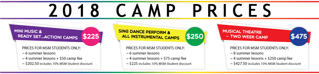 Camp Pricing - Merriam Music Summer Music Camps